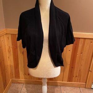CABLE & GABLE women's black knit shrug size 1X